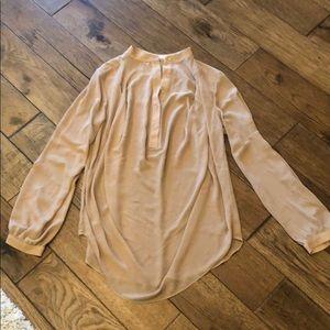 Chiffon half button tunic